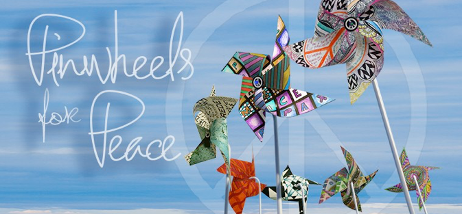 Image result for pinwheels for peace logo